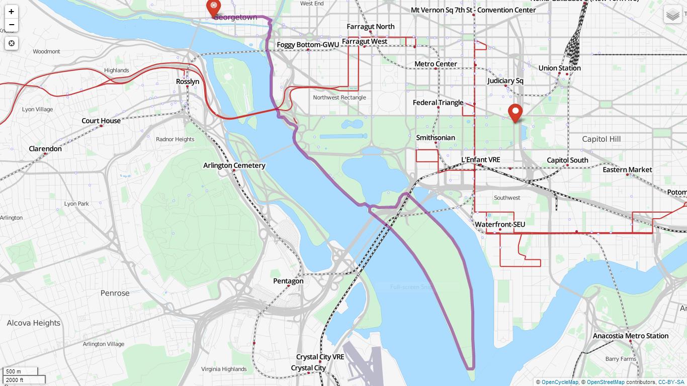 Detailed Maps Washington Running Club