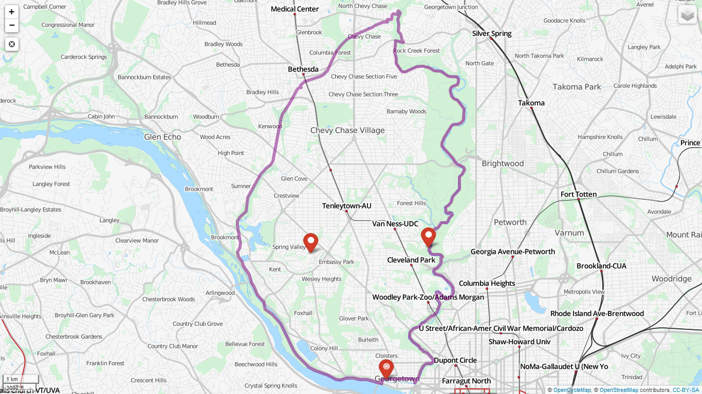 Detailed Maps Washington Running Club