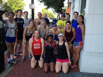 Sixteen brave souls (plus at least three stragglers) beat this heat with the early start, covering anywhere from 9 to 16 miles. Photo by el Prez, Kirk Masterson