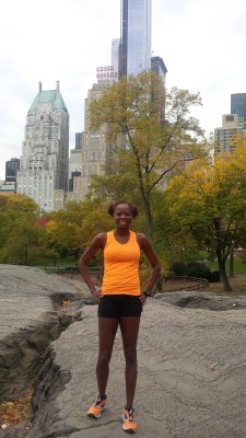 Julia Taylor invokes skyscraper envy during her Saturday shake out run in Central Park
