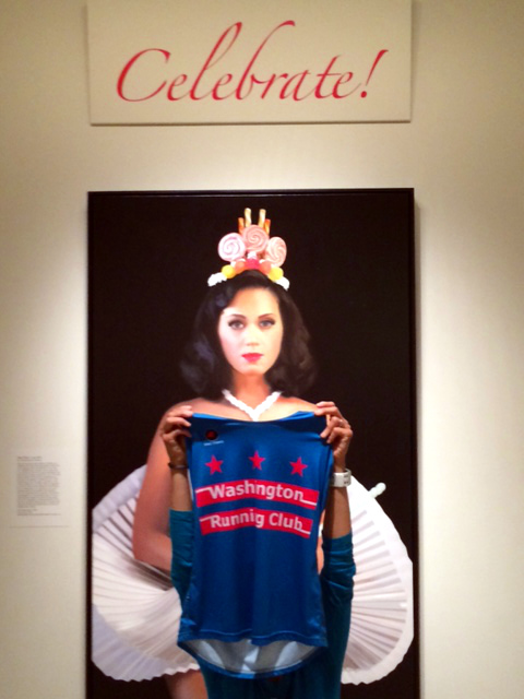"Will Cotton's ""Cupcake Katy"" (2010) went on view at the National Portrait Gallery, but not without some local finishing touches."